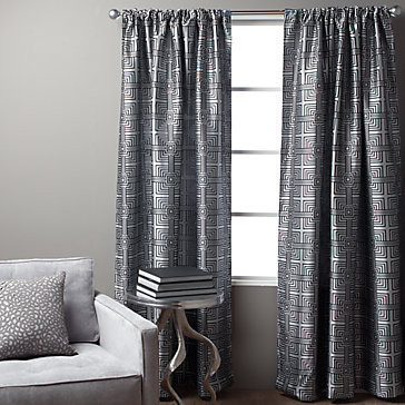 Maze Panel Steel 96 Quot Modern Curtains By Z Gallerie