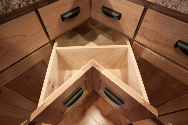 Corner Drawer - Traditional - Kitchen Cabinetry - portland - by Kirk Alan Wood & Design LLC