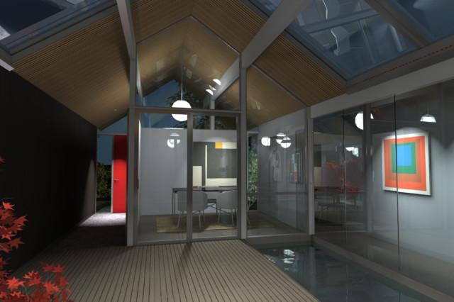 Interior Ct. midcentury-rendering