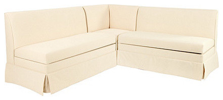 """Coventry Sectional: Corner Bench, 48"""" Bench and 48"""" Storage Bench traditional-upholstered-benches"""