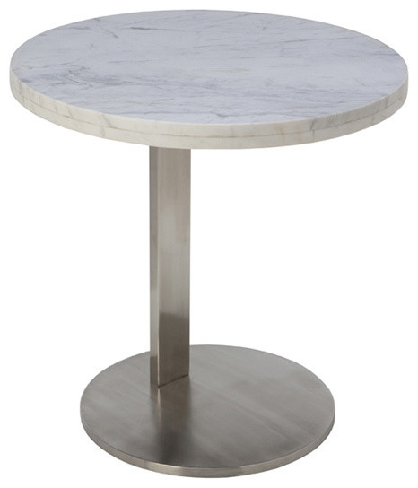 Alize Side Table - White Marble - Modern - Side Tables And End Tables ...