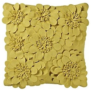 Yellow Chameli Cushion - Decorative Pillows - by John Lewis
