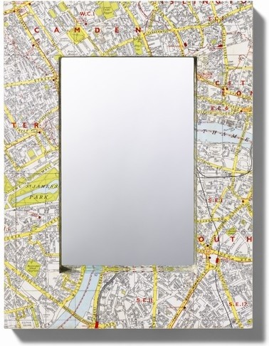Map Mirror by Bombus eclectic mirrors