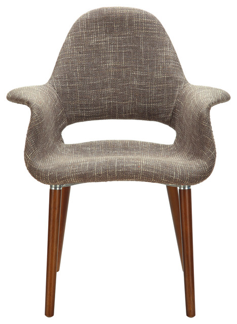 Aegis Dining Armchair in Taupe - Modern - Dining Chairs - by LexMod