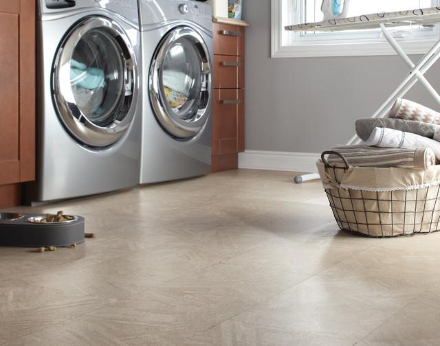 modern laundry room flooring | Cork Flooring - Modern - Laundry Room - by FloorsFirst Canada