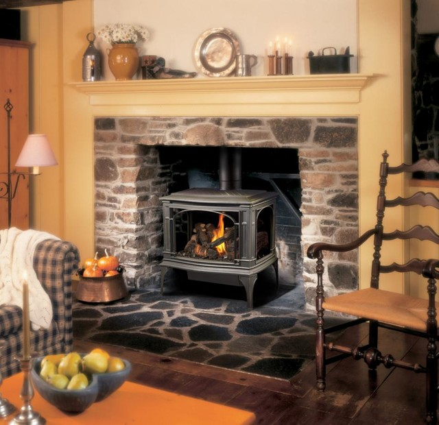 Lopi Greenfield GreenSmart Gas Stove - Traditional - Freestanding ...
