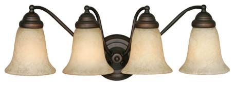 Centennial 4-Light Vanity, Bronze traditional-bathroom-vanity-lighting
