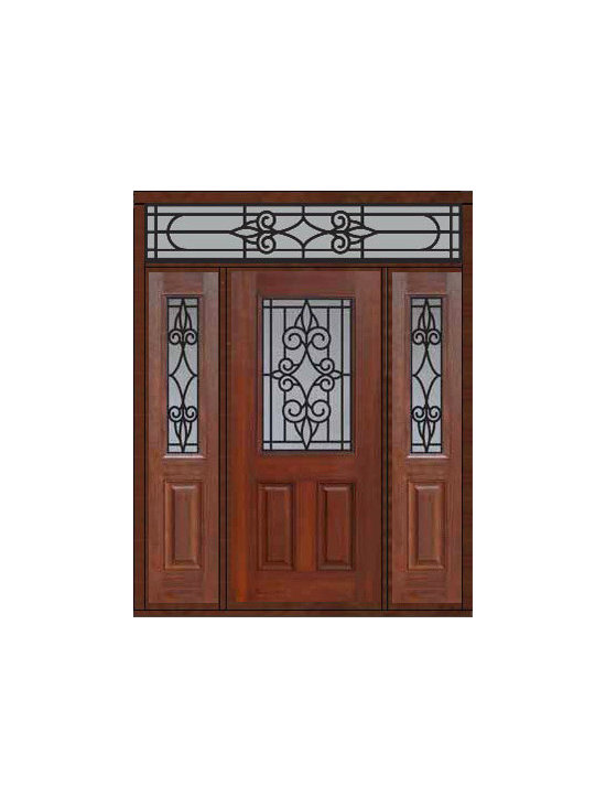 "Prehung Sidelites-Transom Door 80 Fiberglass Salento 1/2 Lite - SKU#    MCT012WSA_DFHSAG1-2RSAGBrand    GlassCraftDoor Type    ExteriorManufacturer Collection    1/2 Lite Entry DoorsDoor Model    SalentoDoor Material    FiberglassWoodgrain    Veneer    Price    4105Door Size Options    32"" + 2( 14"")[5'-0""]  $036"" + 2( 14"")[5'-4""]  $036"" + 2( 12"")[5'-0""]  $0Core Type    Door Style    Door Lite Style    1/2 LiteDoor Panel Style    2 PanelHome Style Matching    Door Construction    Prehanging Options    PrehungPrehung Configuration    Door with Two Sidelites and Rectangular TransomDoor Thickness (Inches)    1.75Glass Thickness (Inches)    Glass Type    Double GlazedGlass Caming    Glass Features    Tempered glassGlass Style    Glass Texture    Glass Obscurity    Door Features    Door Approvals    Energy Star , TCEQ , Wind-load Rated , AMD , NFRC-IG , IRC , NFRC-Safety GlassDoor Finishes    Door Accessories    Weight (lbs)    663Crating Size    36"" (w)x 108"" (l)x 89"" (h)Lead Time    Slab Doors: 7 Business DaysPrehung:14 Business DaysPrefinished, PreHung:21 Business DaysWarranty    Five (5) years limited warranty for the Fiberglass FinishThree (3) years limited warranty for MasterGrain Door Panel"