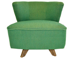 Barrel-Shaped Swivel Chair midcentury-living-room-chairs
