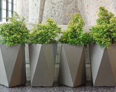 Inner Gardens Fiber Cement Arrow Planter  outdoor planters