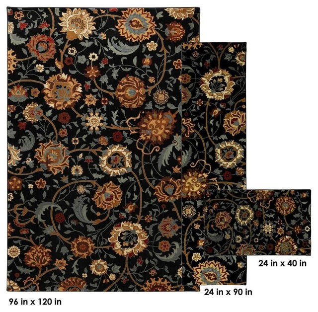 Modern Indoor Outdoor Mohawk Home Rugs Cordella Black 8 ft