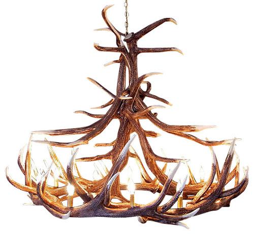 rustic chandeliers - Luxury Lodge