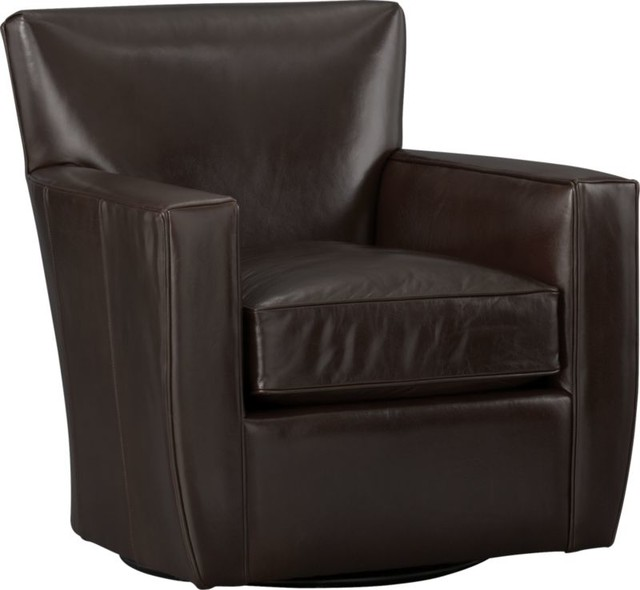 Streeter Leather Swivel Chair Armchairs And Accent Chairs
