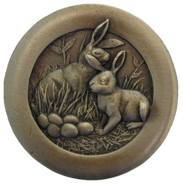 Rabbits Knobs (antique brass) - Traditional - Cabinet And Drawer Knobs - by Inviting Home Inc