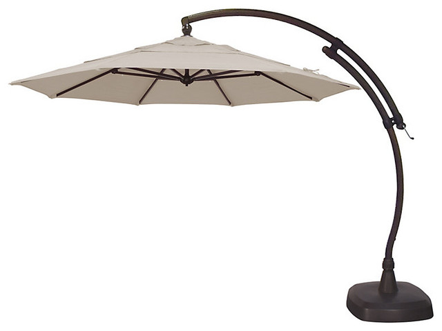 11 Octagon Cantilever Patio Umbrella Traditional