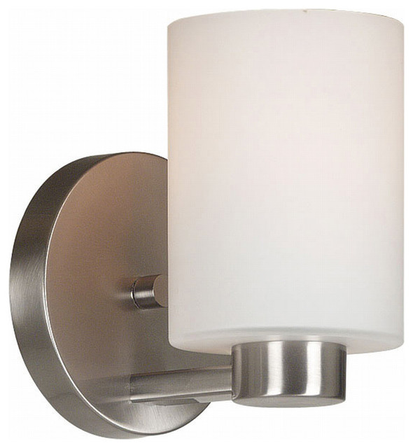 Wall Sconces Transitional : Kenroy 10181BS Encounters 1-Light Sconce - Transitional - Wall Sconces - by Lighting Front