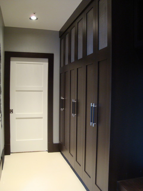 Mudroom contemporary hall