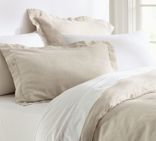 Linen Duvet Cover Amp Sham Natural Traditional Duvet