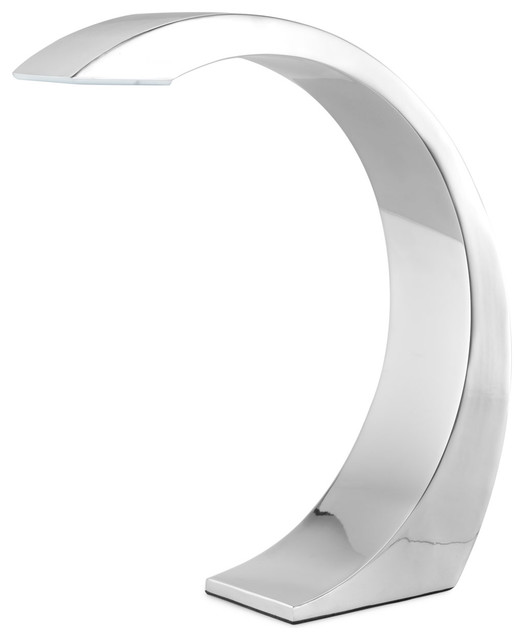 CURVE TOUCH LAMP | Touch-on, Touch-off Lamps, Chrome, Arched C-Shaped Lamps, Mod contemporary table lamps