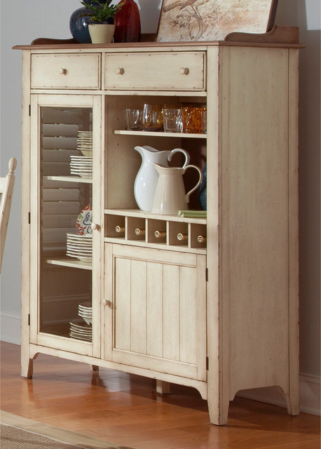 Cottage Cove Liberty Display Cabinet Contemporary Kitchen Cabinets