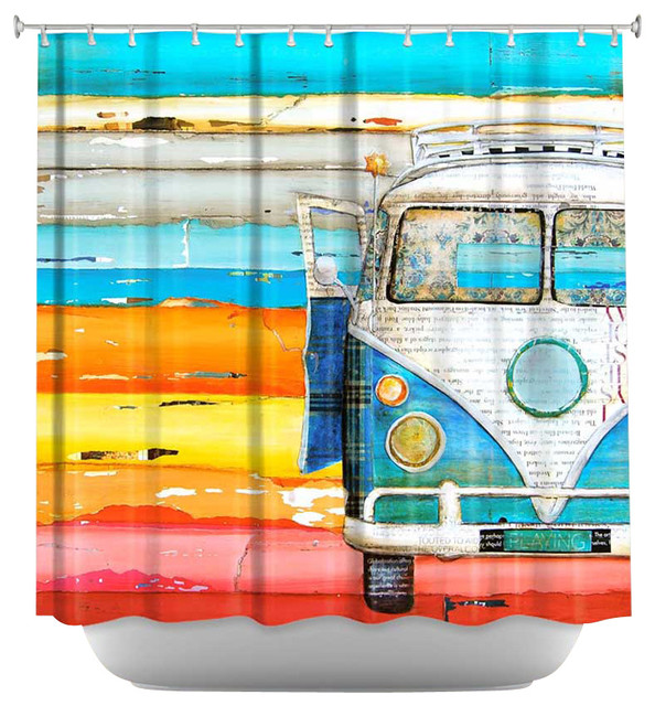 Shower Curtain Artistic - Playing Hooky contemporary-shower-curtains