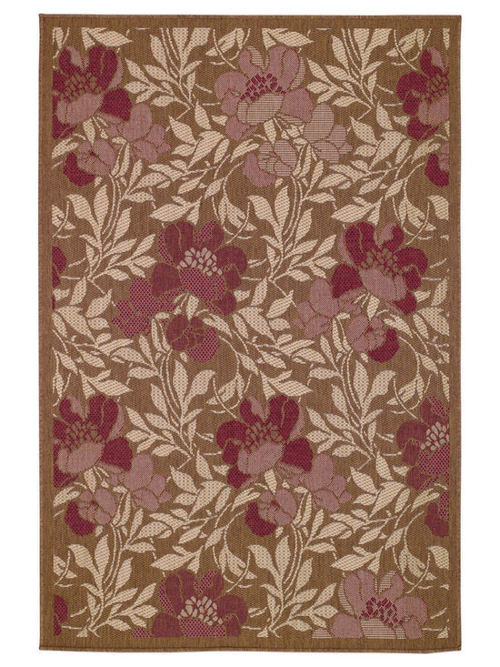 Sterling Flora rug in Bronze - This fashion-forward group of designs and colors is innovative and fresh - from damask to floral to antique coin patterns.
