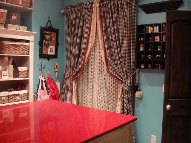 Craft room eclectic oklahoma city by rhonda kieson for Eclectic crafts room