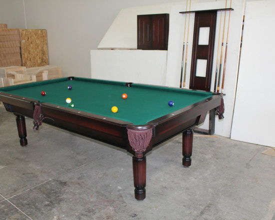 Michigan Made Custom Pool Tables - Add a completely custom made McClure pool table to your basement and you will forever be happy.  Made with one hundred percent North American hard maple wood, this table exudes a unique contemporary style.  Not only will this be a focal point of your basement but it will also provide entertainment for you and your friends and family.