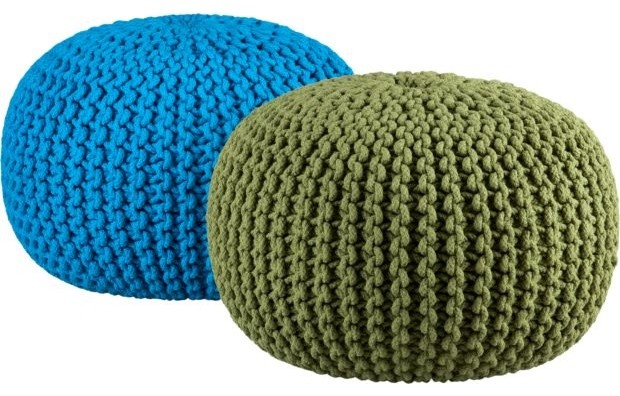 Knitted Pool Pouf