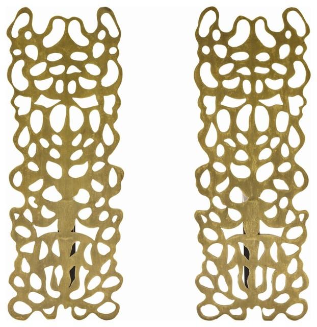 Hedda Andirons, Set of 2 craftsman-fireplace-grates-and-andirons