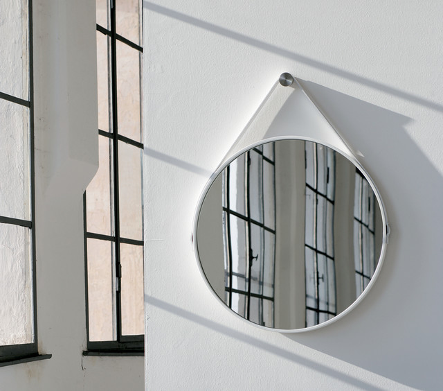 George 24in Round Mirror Modern Wall Mirrors New