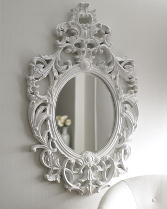 Lily White Baroque Mirror traditional mirrors