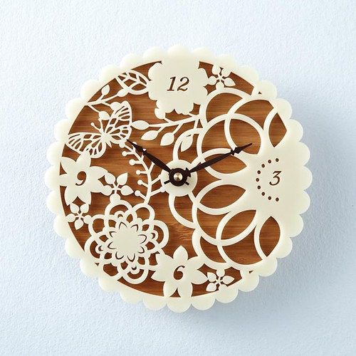 Lace Face Wall Clock #touchoflace