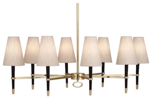 Robert Abbey Jonathan Adler Ventana Oval Chandelier 718 modern-chandeliers