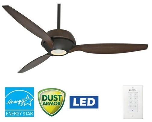 "Casablanca 59119 Riello 60"" 3 Blade Energy Star Ceiling Fan - LED Light Kit, Bla modern-ceiling-fans"