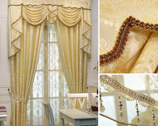 Customized Curtains in Golden Color - at least 50% off market price