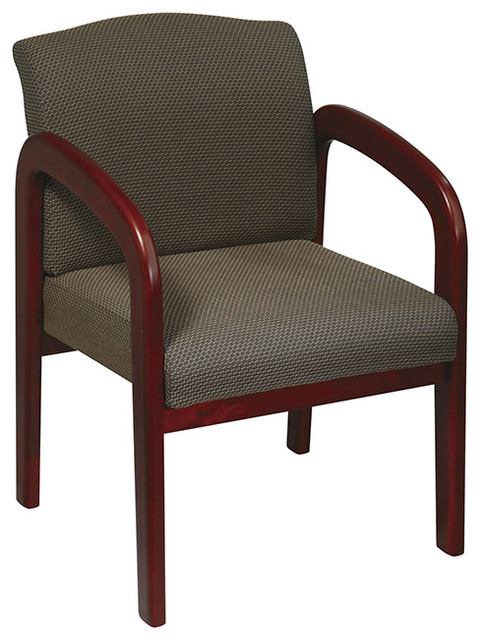 Work Smart WD Collection WD387-316 Cherry Finish Wood Visitor Chair traditional-office-chairs