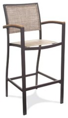 GAR Products 30-Inch Bayhead Performance Weave Bar Stool - Outdoor Chairs at Hay