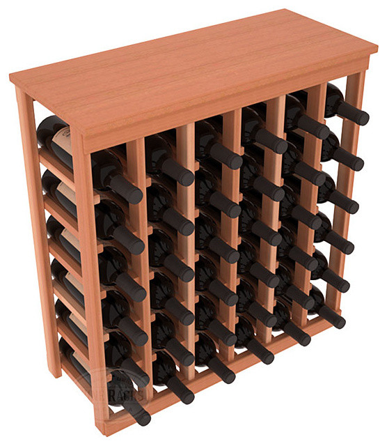 36 Bottle Kitchen Wine Rack in Redwood with Satin Finish contemporary-wine-racks