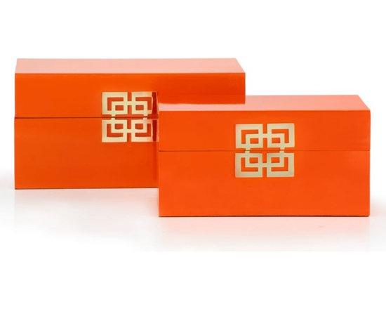 Ming Boxes, Mandarin, Set of 2 -