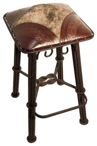 Western Iron Barstool Set Of 2 Modern Bar Stools And