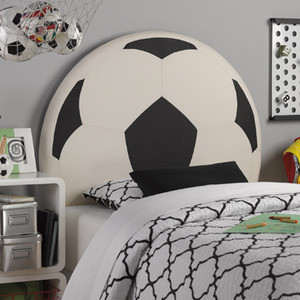 Soccerball Headboard Modern Kids Beds Los Angeles