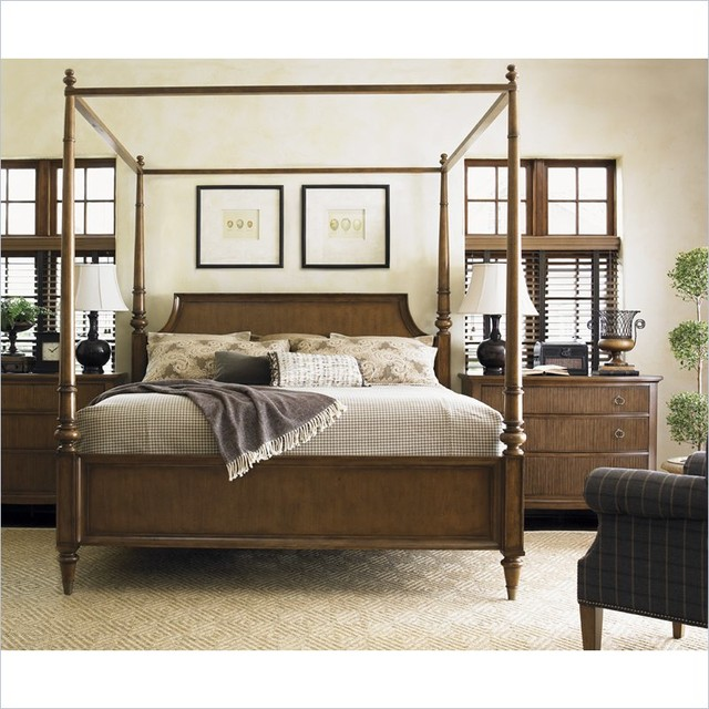Lexington Quail Hollow Georgetown Poster Bed in Wellington Finish - Traditional - Canopy Beds ...
