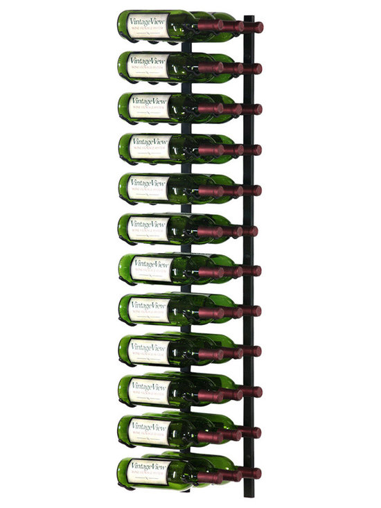 VintageView - VintageView 36 Bottle Metal Wine Rack, Satin Black - Create a wall wine rack system anywhere. These metal wine racks are slightly taller than the WS3 Series, but equally decorative and versatile. Showcase your wine, not the racks. We are proud to be the best dealer of VintageView products in America, and we back our position with unsurpassed customer service.