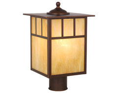 Mission Burnished Bronze Outdoor Post Light traditional-outdoor-lighting