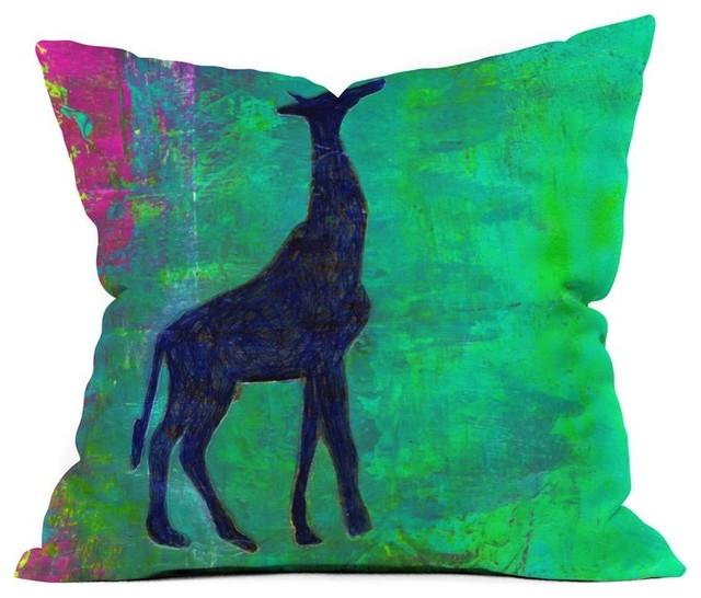 DENY Designs Sophia Buddenhagen Messenger Outdoor Throw Pillow Multicolor - 1608 modern-outdoor-cushions-and-pillows