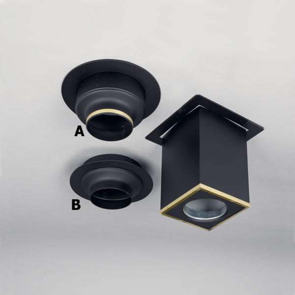 """7"""" Supervent Decorator Ceiling Support - Modern - Fireplace Accessories"""