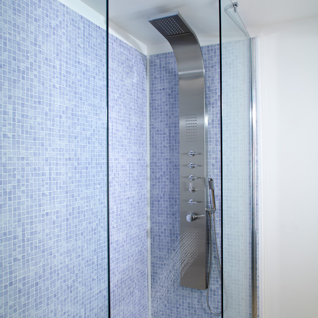 Shower tower panel systems for Shower tower with body jets