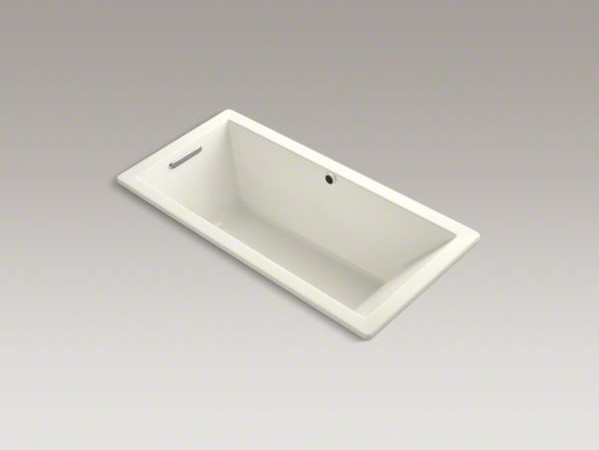 "KOHLER Underscore(R) 66"" x 32"" drop-in bath with Bask(TM) heated surface and end contemporary-bathtubs"