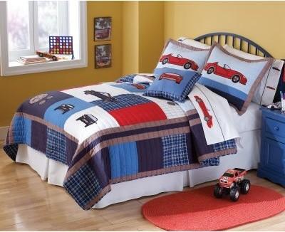 Pem America Cars Quilt Set modern-bedding